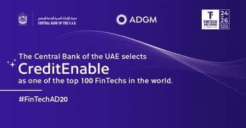 CreditEnable named part of Fintech100 by Central Bank of the UAE